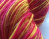 "Chelford Handdyed 75/25 Superwash Blue Faced Leicester/ Nylon sock yarn ""Orkney Sunrise"""