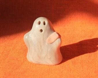 Ghost Boo Boo 6, Halloween miniature ghost figurine, handmade miniature ghost sculpture, miniature ghost Halloween decoration
