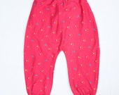 Girls Kids Harem pants Size 2 Comfy  Handmade in Montana Myfunnyclothes Baggy Pants Hippie pants Comfy