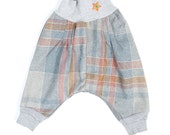 Recycled Star Aladin Pants Comfy and Warm Kids Harem Pants. UNISEX, Size 2T, Gray Myfunnyclothes Hippie pants Warm Comfy pants
