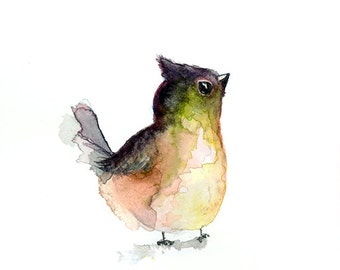 Watercolor painting watercolor bird painting bird art animal illustration bird PRINT Watercolor