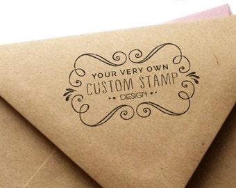 Custom Return Address Rubber Stamp - Your Own Unique Design!