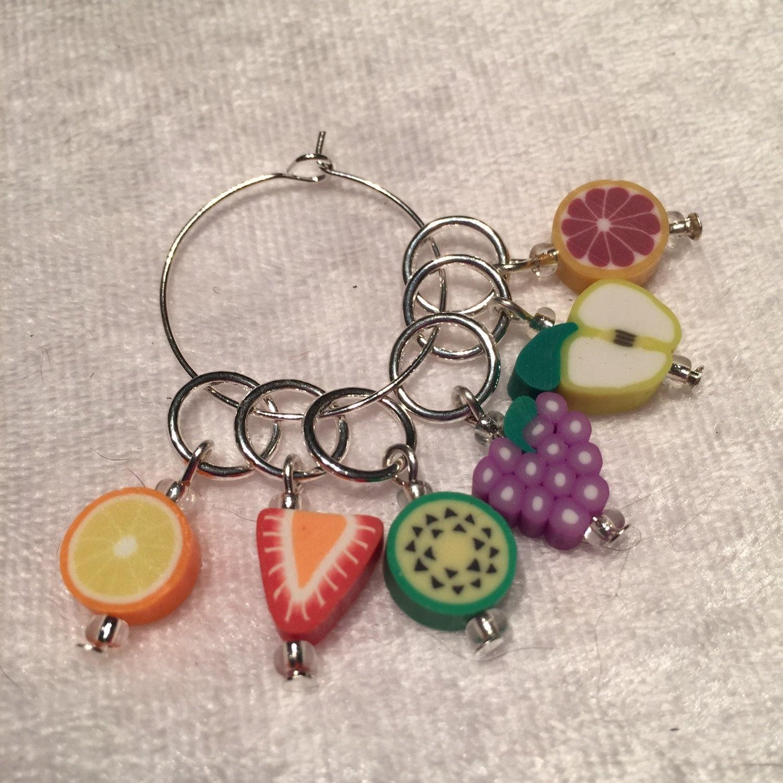 Knitting Using Stitch Markers : Knitting Stitch markers . Fruity knitting stitch