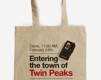 Tote bag Diane Twin Peaks, David Lynch