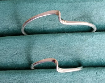 Sterling Silver Mther Daughter/Baby bracelet set