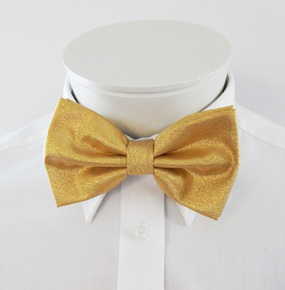 mens bowties lame fancy gold lame fabric adjustable pre