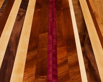 Reclaimed Wood Countertop, Custom Tabletop, Unique Desktop, Made to Order with your Design, Unique Countertop in Custom Size, Walnut Wood