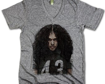 Troy Polamalu Officially Licensed NFLPA Pittsburgh V-Neck Mens XS-2XL Sketch