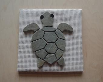 Hawaiian Sea Turtle -Hatchling- Tile Mosaic