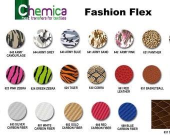 """12""""x 15"""" Chemica Fashion Flex / Animal, Army & 3D"""
