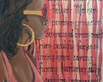 Custom Decorative Acrylic Painting offering Encouraging Words on Canvas by Tomisha Lovely Allen