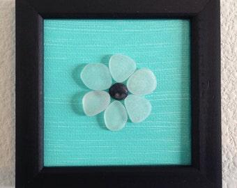 Sea glass art/ Pebble art/ Canvas art/ Framed art/ Acrylic Painting/ Home decor/ Unique Gift