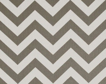 Designer Custom Curtain Panels 50 x 96 Gray White Zig Zag Chevron with sun Block Lining