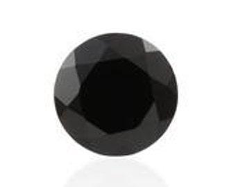Thai Black Spinel Round Cut Loose Gemstone 1A Quality 7mm TGW 1.35 cts.