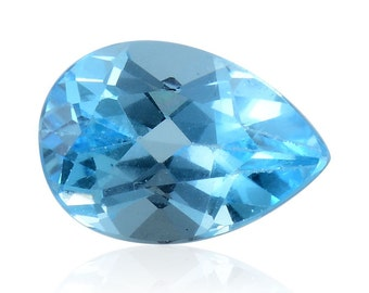 Blue Topaz Loose Gemstone Pear Cut 1A Quality 10x7mm TGW 1.90 cts.