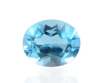 Blue Topaz Oval Cut Loose Gemstone 1A Quality 11x9mm TGW 3.85 cts.