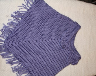 Purple Toddler Girl Poncho