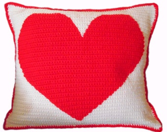 Heart Shape Crochet Pillow