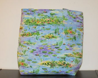 Large Monet Water Lilies Tote Bag
