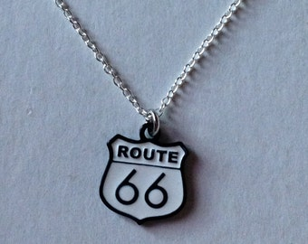 Route 66 Charm Necklace