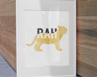 Missouri Tigers Art Print |  Mizzou-RAH