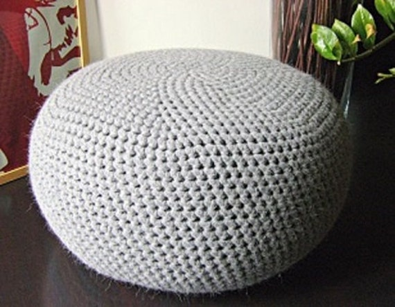 KNITTING PATTERN 4 Knitted & Crochet Pouf Floor cushion Patterns, Crochet Pattern, Knit Pattern ...