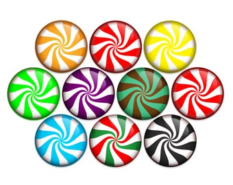 Peppermint Starlight Mint Candy Cane Button Pin Back Button U-Back or Magnet (pack of 10)