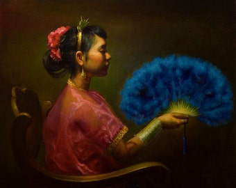 Fan Dancer - Limited Edition Giclee Print