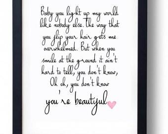 What Makes You Beautiful Lyrics
