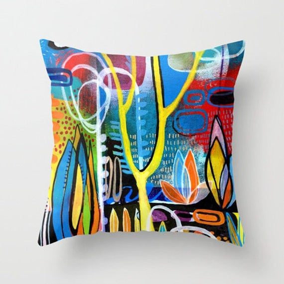 Mid Century Modern Style Throw Pillow Modernist Decor