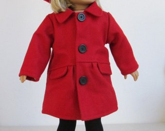 Doll Clothes Red Coat+Hat+Tights+Boots Fit American Girl Dolls 903RB