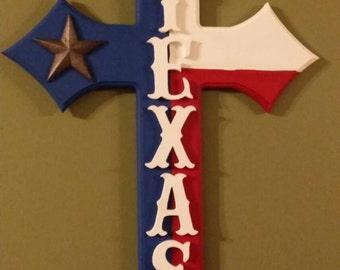 TEXAS handcrafted cross