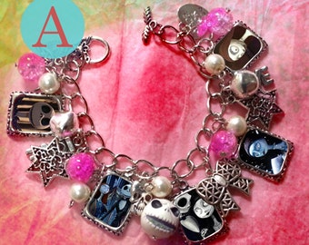 Tim Burton  The nightmare before christmas charm bracelet
