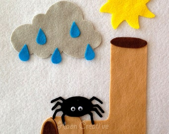Itsy Bitsy Spider Felt Story / Flannel Board Set