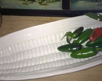 Vintage Corn Shaped Serving Dish - Made in Italy