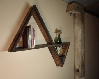 Triangle Shelf & Key Holder