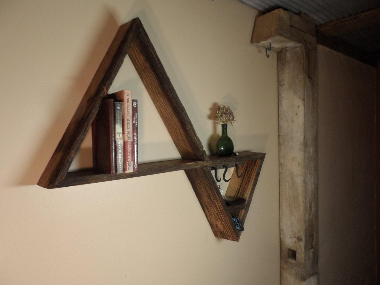 triangle shelf key holder. Black Bedroom Furniture Sets. Home Design Ideas