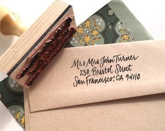 Rubber Stamp for Envelopes - Return Address Custom Design