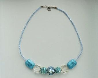 Delicate Dreamy Blue Necklace