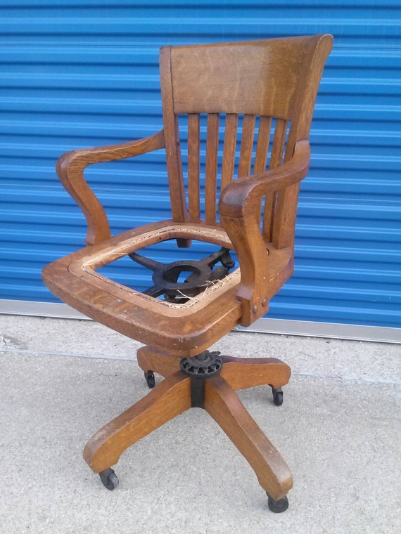 Antique Milwaukee chair company oak office bankers lawyers : il570xN7416697662jsn Parts <strong>for Vintage Wooden Swivel Desk Chair</strong> from www.etsy.com size 570 x 760 jpeg 105kB
