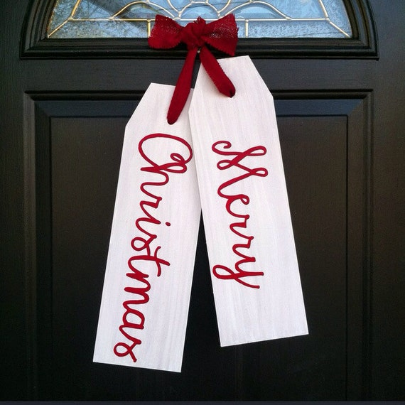 Items Similar To Front Door Decoration Merry Christmas