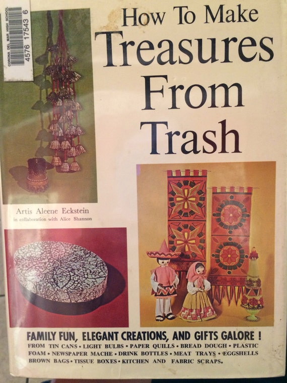 How To Make A Book Cover Hardcover ~ How to make treasures from trash hard cover book by