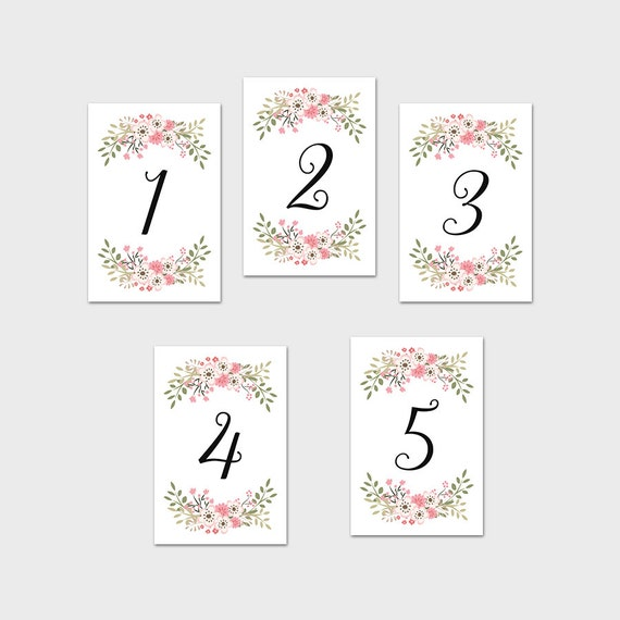 Diy Wedding Table Numbers Printable - printable wedding ...