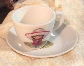 Vintage Holly Hobbie Cup and Saucer
