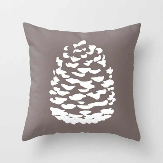 Modern Pinecone Throw Pillow Cover Fall Accent Pillow