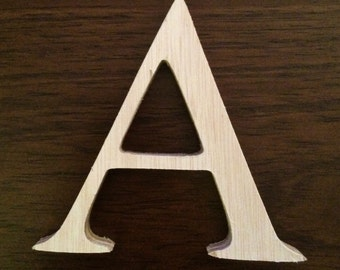 Wood Letters, Wedding Letters - 4 inch unfinished wooden letter - Times New Roman Font