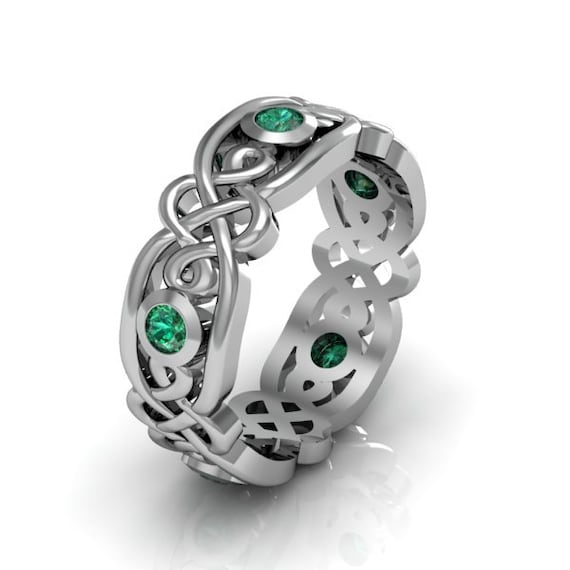 emerald gemstone engagement rings silver emerald s