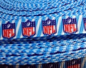 "4 Yards of NFL printed 3/8"" Grosgrain Ribbon"