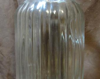 Jar, Super Large, Ribbed Sides, Lid