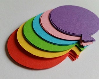 Party Balloon Die Cut Outs ( Scrap Booking, Party Decorations, Embellishments)